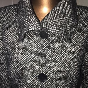Talbots Wool Blend Lined Button Down Jacket